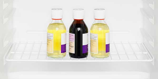 Refrigerator Medicine Three Bottles