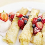 Kaese Blintzes (Rolled Cheese Pancakes)