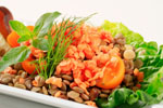 Minted Lentil and Tomato Salad